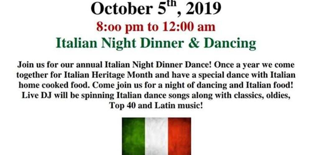Italian Night Dance Tickets, Sat, Oct 5, 2019 at 8:00 PM
