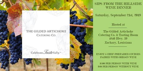 WINE DINNER: SIPS FROM THE OREGON HILLSIDE  tickets