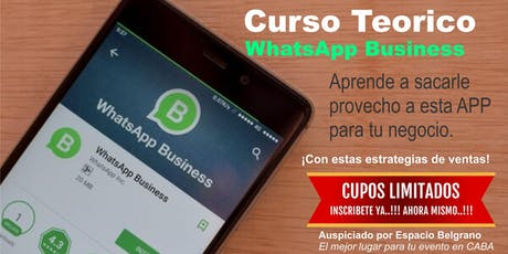 Como vender por WhatsApp Business  entradas
