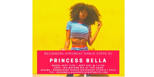 Afrobeat dance steps with Princess Bella - Beginners