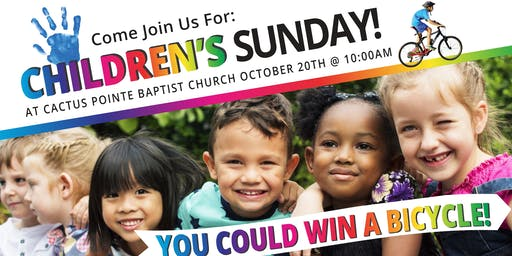 FREE FOOD, Games & Prizes + 3 Bike Giveaways! Join Us For Children's Sunday