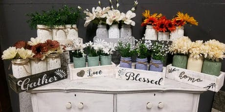 Mason Jars and Pallet Wood tickets