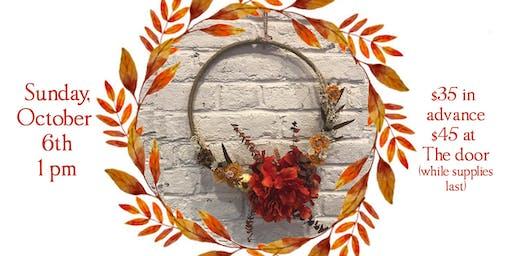 Fall Wreath Craft at Mayday
