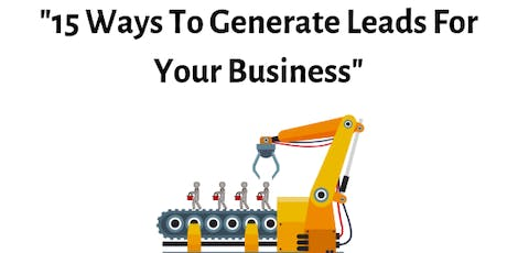 15 Ways To Generate Leads For Your Business tickets