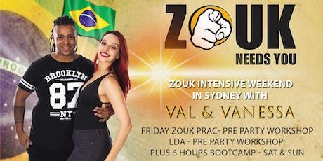 Zouk Needs You Sydney with Val & Vanessa tickets