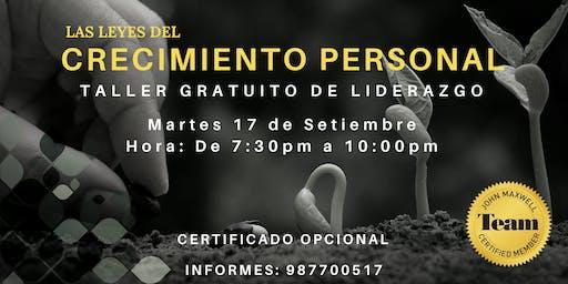 TALLER GRATUITO DE CRECIMIENTO PERSONAL - JOHN MAXWELL TEAM