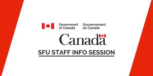 SFU Government of Canada Staff Info Session