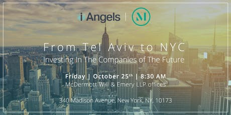 From Tel Aviv to NYC: Investing In The Companies of The Future tickets