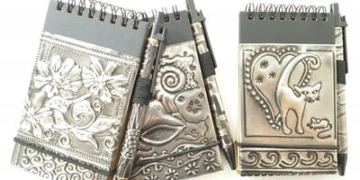 Embossed Pewter Notebook (A short workshop for absolute beginners)