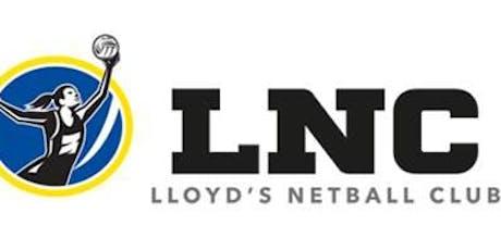 Lloyd's Netball 1 Year Anniversary tickets