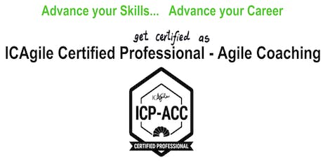 ICAgile Certified Professional - Agile Coaching (ICP ACC) Workshop - Pittsburgh PA tickets