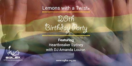 Lemons with a Twist 20th Birthday Celebration tickets