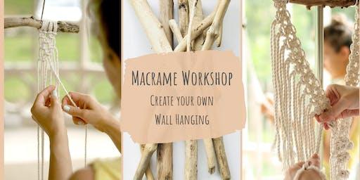 Macrame Wall Hanging Workshop - Beginners