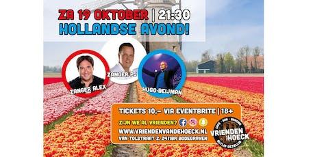 Hollandse Avond met Zanger Alex, Zanger PJ & Hugo Beijeman tickets