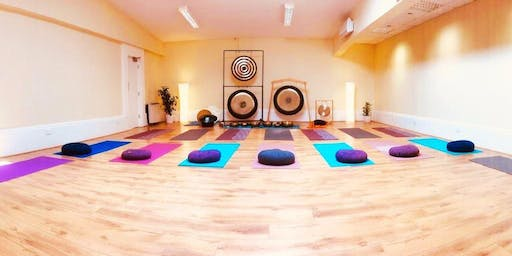 Sitting meditation with singing bowls in Galway