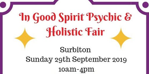 In Good Spirit Psychic & Holistic Fair - Surbiton!
