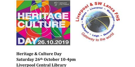 Heritage & Culture Day - The Irish in the North West 1800 -1939 - Mervyn Busteed tickets