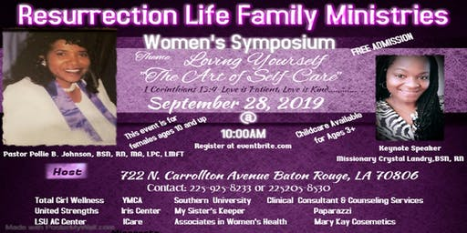 "Women's Symposium         /     Loving Yourself, ""The Art of Self-Care"""