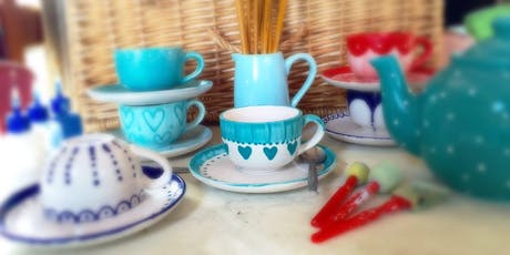 Cup and Saucer Painting & Cream Tea @ The Mocha Lounge tickets