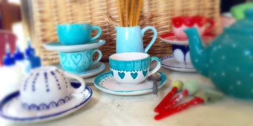 Cup and Saucer Painting & Cream Tea @ The Mocha Lounge