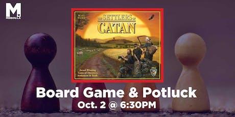 Board Game & Potluck tickets