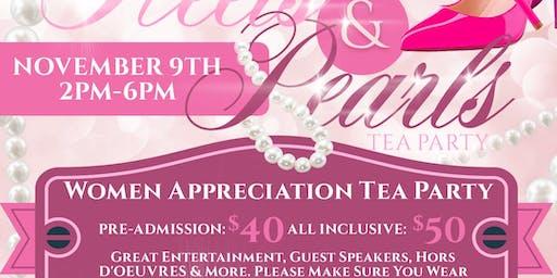 """WOMEN APRRECIATION """"TEA PARTY """" HEELS & PEARLS"""
