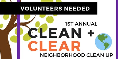 Women for the Culture Presents: 1st Annual Clean + Clear Neighborhood Clean Up