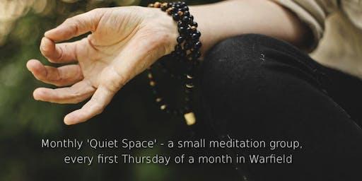 Monthly 'Quiet Space' in Warfield