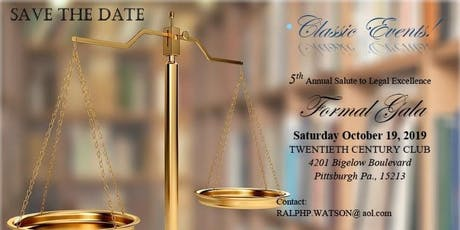 5 th Annual Salute to Legal Excellence Formal Gala tickets