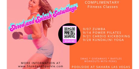 *FREE Poolside Fitness SHRED AND SPLASH SATURDAYS! tickets
