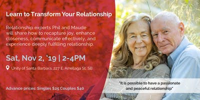 Learn How to Transform Your Relationship