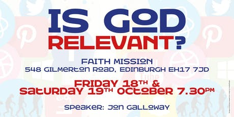 """Is God Relevant?"" tickets"