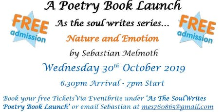 'As The Soul Writes'  Poetry Book Launch tickets