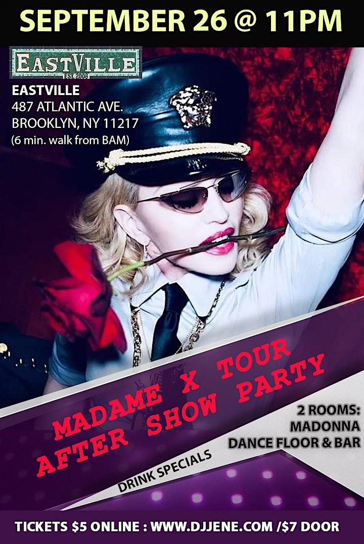 Madonna Madame X Tour After Show Dance Floor Party Sept 26 @ EastVille 11pm image