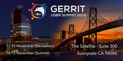 Gerrit User Summit 2019