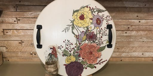 Autumn Floral Serving Tray