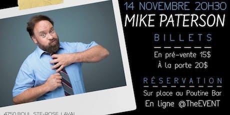 Mike Paterson humoriste tickets