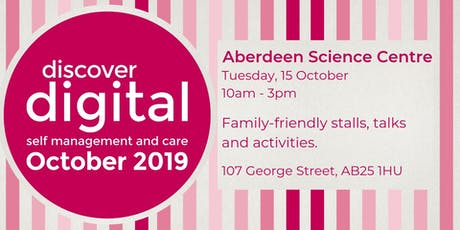 Discover Digital: self management and care (Aberdeen) tickets