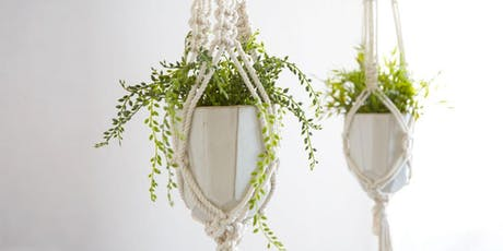 Macrame 101 - A Beginner's Guide to Knotting a Plant Hanger tickets