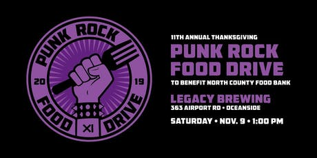 The 11th Annual Thanksgiving Punk Rock Food Drive tickets