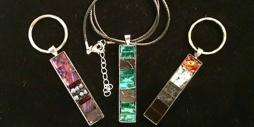 Mosaic pendant/keyring with Debi Schusler