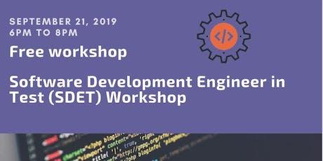 Software Development Engineer in Test (SDET) Workshop tickets
