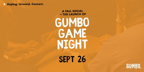 Gumbo Game Night + Fall Social tickets