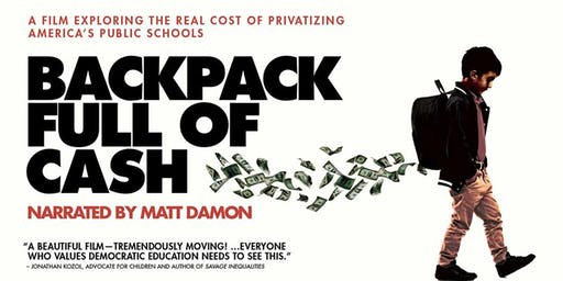 Backpack Full of Cash Screening and Privatization Panel Discussion