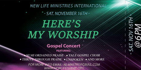 Here's My Worship--NLMI Fundraising Concert tickets