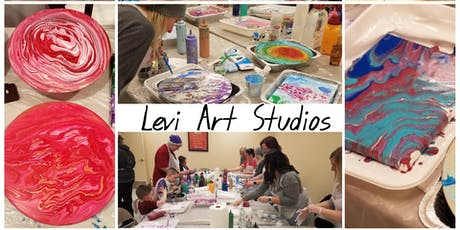 Acrylic Pouring Class at the Quilted Bear. tickets