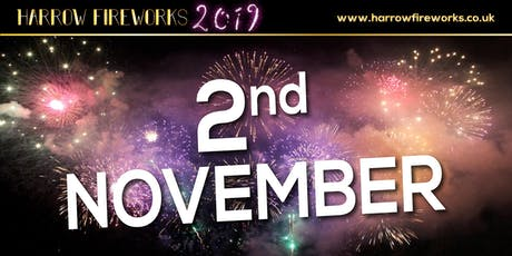 Harrow Fireworks Display, Saturday 2nd November 2019 (celebration of culture) tickets