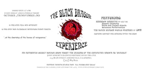 HALLOWEEN BASH! at The Black Dragon Experience:  Dracula Unvieled.tickets