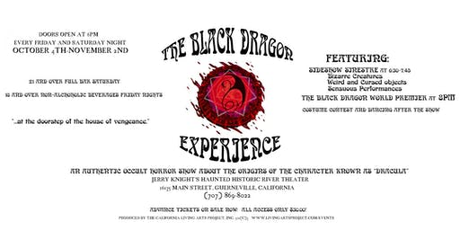 HALLOWEEN BASH! at The Black Dragon Experience:  Dracula Unvieled.