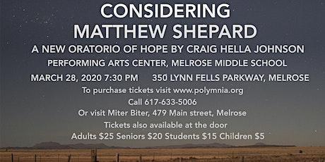 Considering Matthew Shepard tickets
